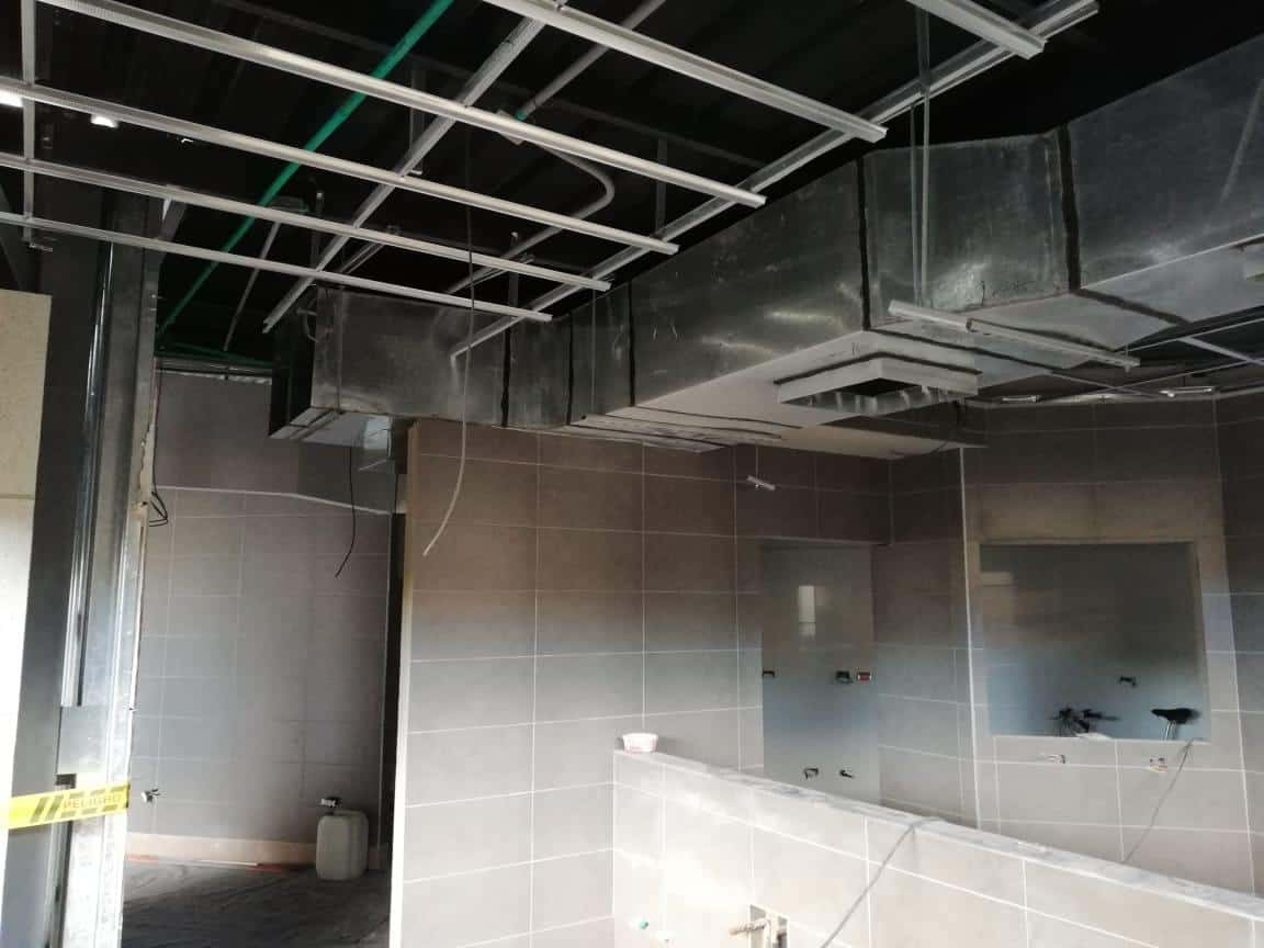 ductos de extraccion para centro comercial