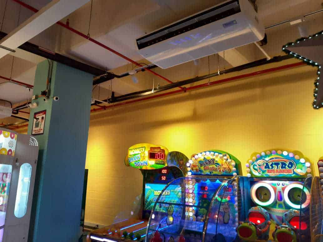 Playtime HVAC centros comerciales